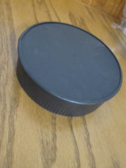 "Black 6"" Single Wood Stove Wall Galvanized 6"" Tee Cover Cap"