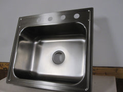 Elkay 20 Ga.Satin Stainless Steel Single Basin Kitchen Sink 1001-775-373