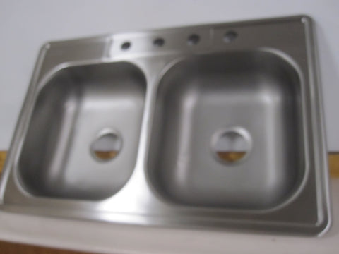 Glacier Bay 23 Ga.Brushed Stainless Steel Double Basin Kitchen Sink 622-291