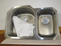 Glacier Bay 16 Ga. Undermount Stainless Steel Double Basin Kitchen Sink 521-629