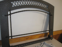 Artisan FPX 34 DVL Fireplace Insert Black Hamper Arched Front Face / Overlay 95300602