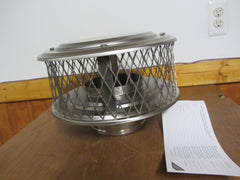 "Homesaver Pro Guardian Stainless Steel  6"" Round Chimney Cap 3/4"" Mesh COP13862"