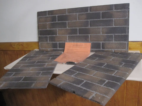 Emprie VFD36FB Fireplace Fieldstone Refractory Panel Set Model VBP36SK-1