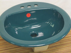 "Crane Bradford Teal Self-rimming Bathroom Sink 19"" Round  X  6"" Deep Model # 4618V 445"