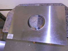 "Homesaver Stainless Steel  4"" Top Plate Fireplace-Pellet-Corn- Stove 13""X 13"" Part # 38303  29N4"