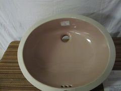 "Crane Tiara Blush Undermount Bathroom Sink 19"" x 16""  X 5"" Deep  Part # 1992 315"