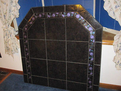 "48DL Onyx With Flower Pellet /Wood Stove Hearth Board  48"" x 48"" Part # 36422"