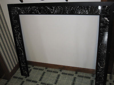 "FIREPLACE - WOOD - PELLET STOVE ITALAIN MARBLE TRIM WALL SURROUND 46"" X 40 1/2"""