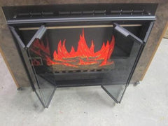 "Portland Willamette Black Fireplace Door Clear Glass Inside Fit 38 1/2"" x 28"""
