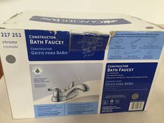 Glacier Bay  Chrome Constructor Bath Faucet Model # 217 251