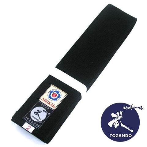 Flexible Wide Black Aikido Obi