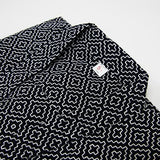 navy edo zashi kendo gi pattern close up