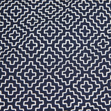 navy edo zashi kendo gi pattern fabric close up
