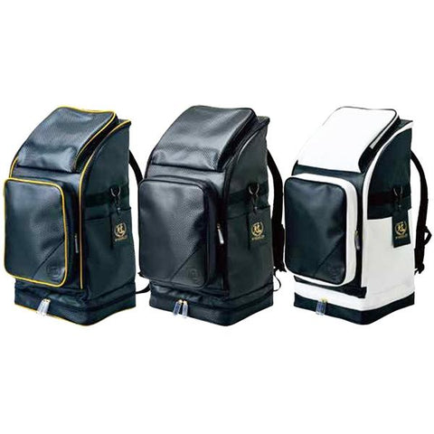The kanmuri backpack in three colour options.