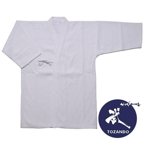 Basic Single Layered Cotton Kendo Gi White Front view