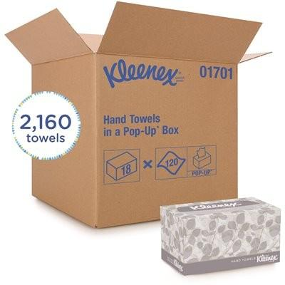 Kleenex Pop Up Box Hand Towel, White - 2160 per Case Disposables 1354