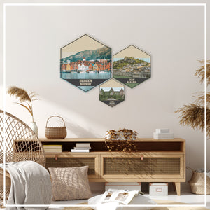 Mille Lacs Lake Minnesota Hexagon Print