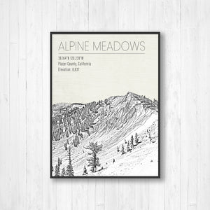 Alpine Meadows Print