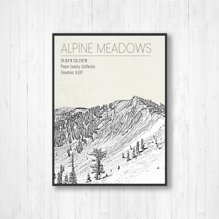 Alpine Meadows California Ski Resort Print