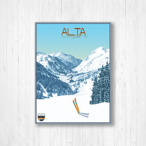 Alta Utah Modern Illustration Print by Printed Marketplace