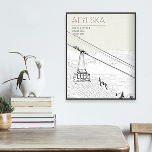 Hanging Canvas Map of Alyeska by Printed Marketplace