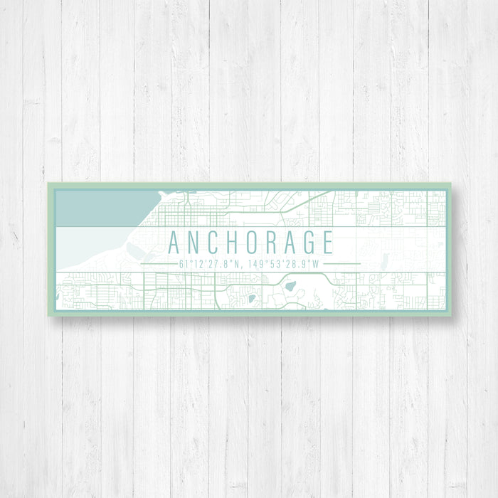 Anchorage Alaska Map Sign