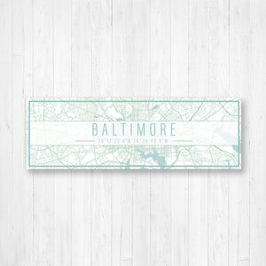 Baltimore Maryland Map Sign