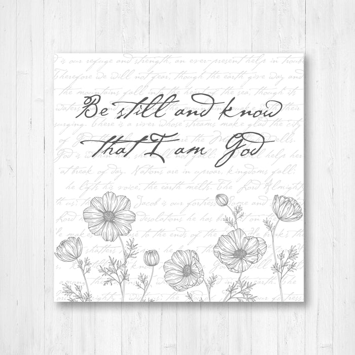 Be Still and Know Vintage Word Art