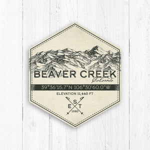 Beaver Creek Ski Resort Hexagon Badge