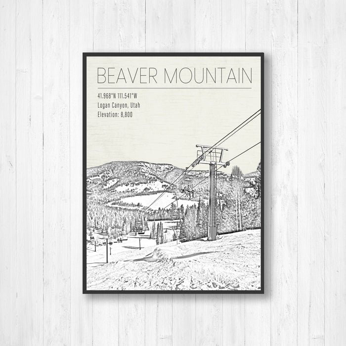 Beaver Mountain Utah Ski Resort Print