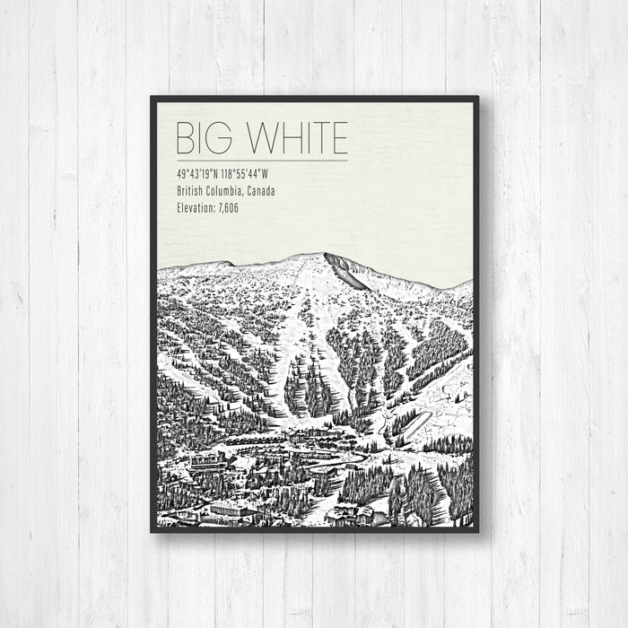 Big White Canada Ski Resort Print