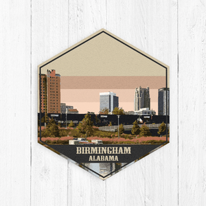 Birmingham Alabama Hexagon Canvas Art
