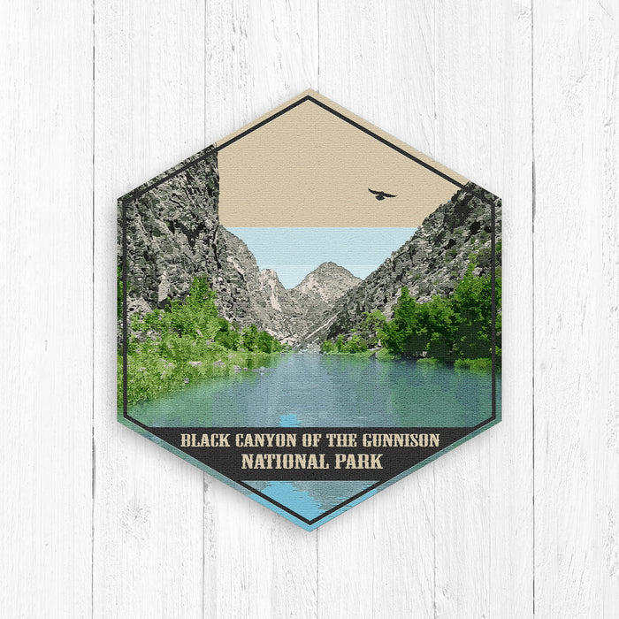 Black Canyon of the Gunnison National Park Hexagon Illustration