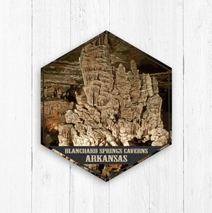 Blanchard Springs Caverns Arkansas Hexagon Illustration