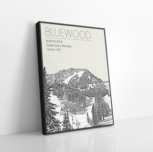 Hanging Canvas of Bluewood Ski Resort by Printed Marketplace
