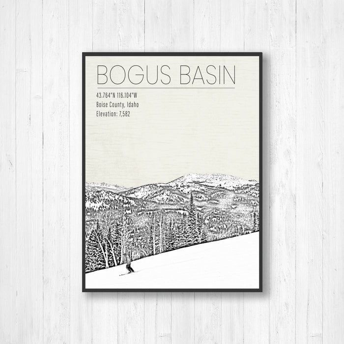 Bogus Basin Idaho Ski Resort Canvas Print
