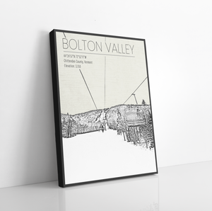 Hanging Canvas of Bolton Valley Ski Resort by Printed Marketplace