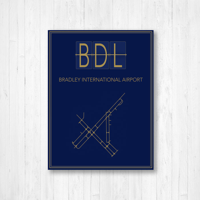 Bradley Connecticut International Airport Map Print
