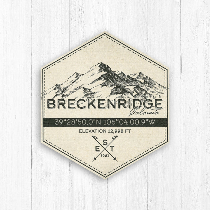 Breckenridge Ski Resort Hexagon Badge