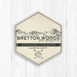 Bretton Woods Ski Resort Hexagon Badge