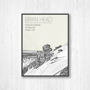 Brian Head Ski Resort Hanging Canvas