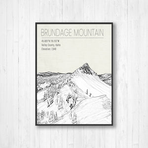 Brundage Mountain Hanging Canvas