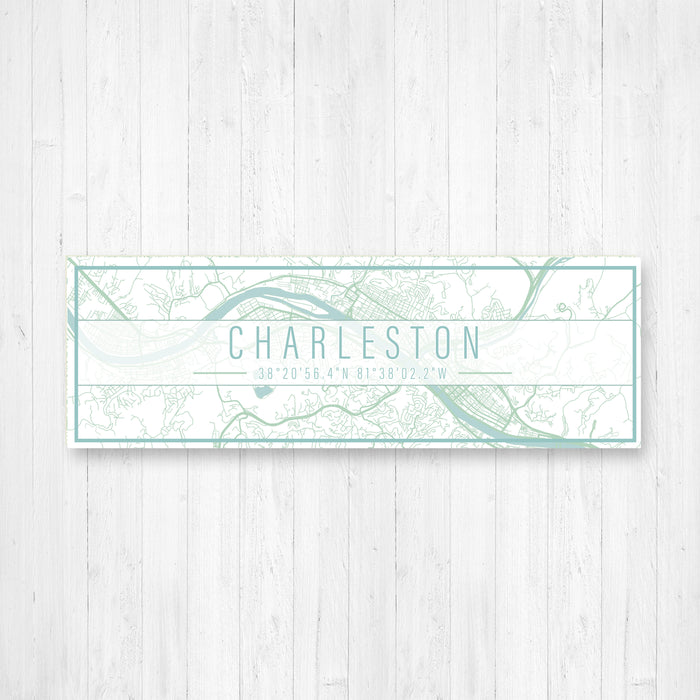 Charleston West Virginia Canvas Sign