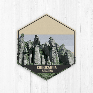 Chiricahua Arizona Hexagon Illustration Canvas
