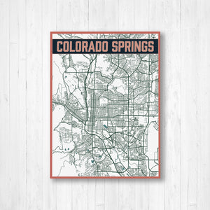 Map of Colorado Springs Colorado