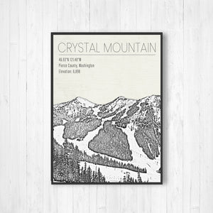 Crystal Mountain Ski Resort Hanging Canvas Print by Printed Marketplace