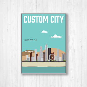 Custom City Modern Illustration