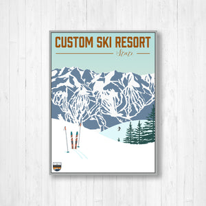 Custom Ski Resort Prints
