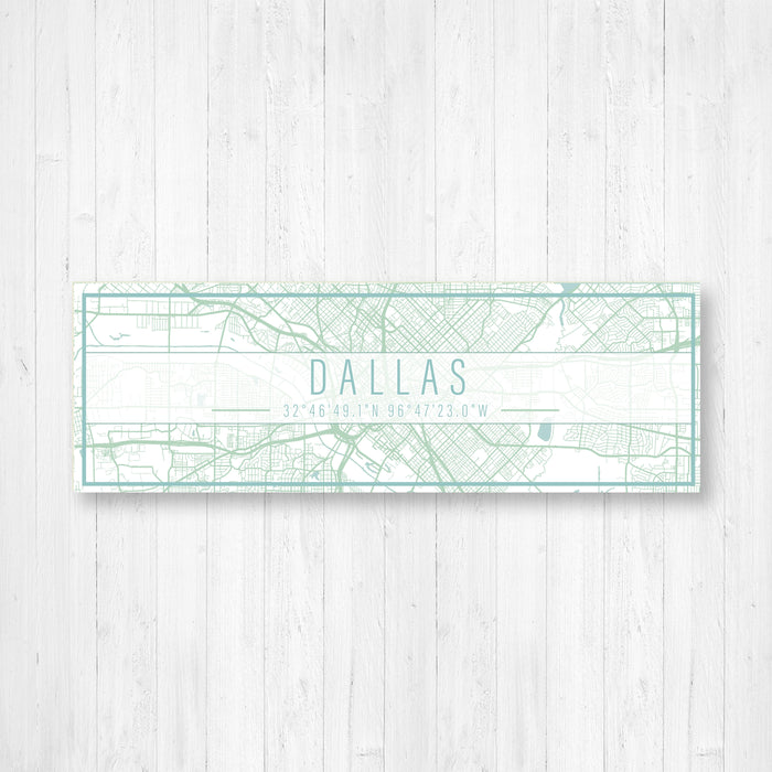 Dallas Texas City Map Sign