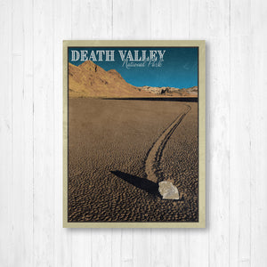 Death Valley National Park California Poster | Death Valley Travel Illustration | Printed Marketplace